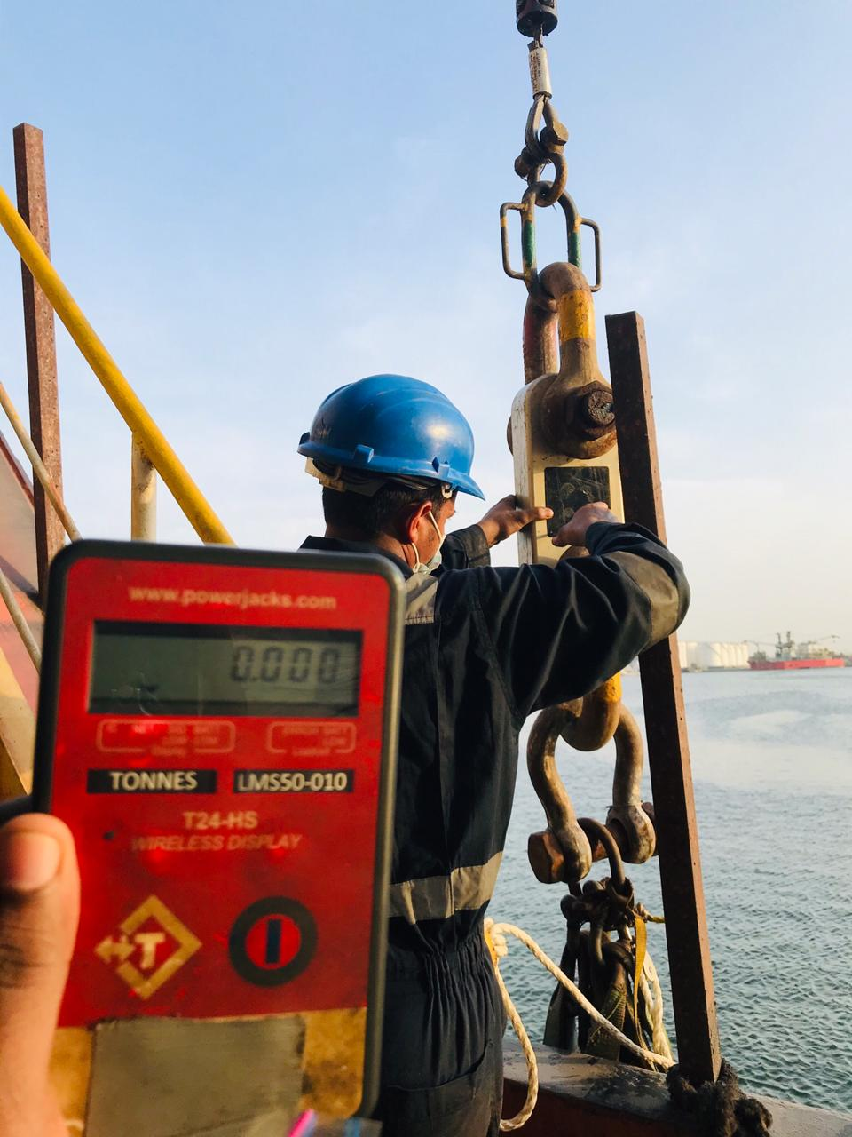 Rescue Boat and Launching appliances 5 yearly inspection and load test at Sharjah