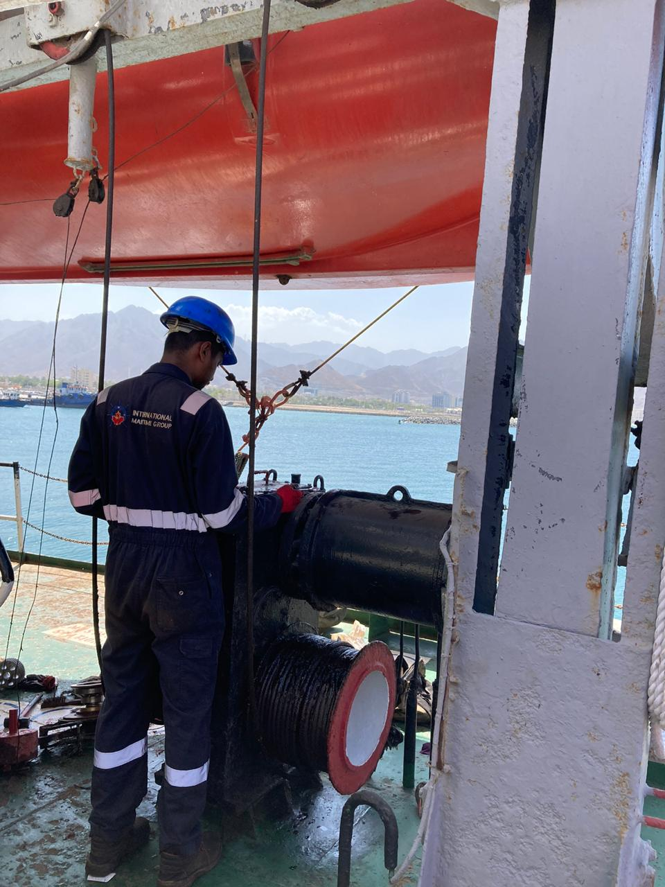 Lifeboat and Launching Appliances Annual Inspection at Khorfakkan