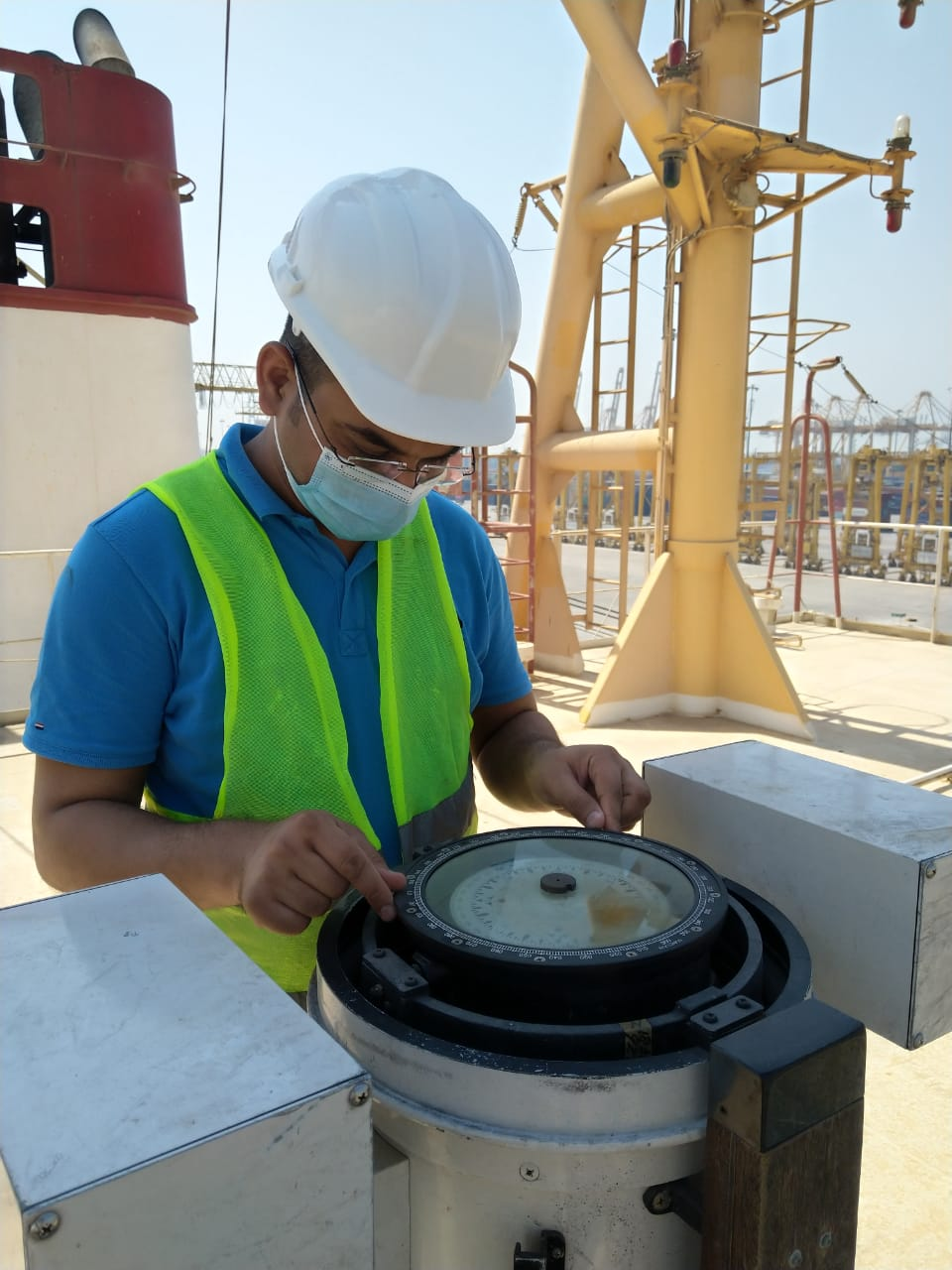 Magnetic Compass Calibration at Jebel Ali