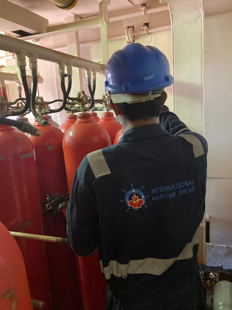 Fixed CO2 system inspection at Dubai
